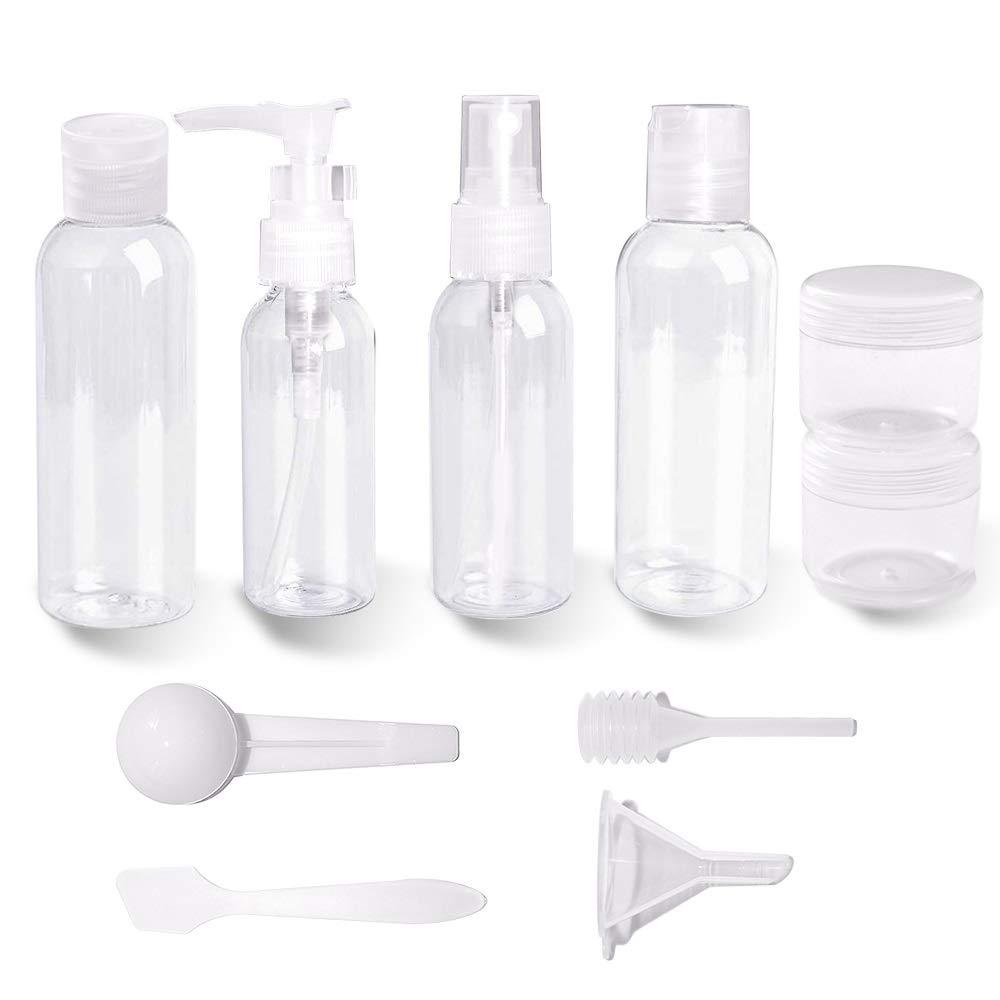 Set Bottiglia Cosmetica, AidSci 10Pcs Shampoo Bottiglia Cosmetica/Crema/Gel/Contenitore Liquido
