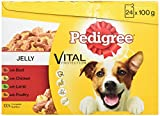 Pedigree Dog Pouches Favourites in Jelly, 24 x 100 g, Pack of 2 (Total 48 Pouches)