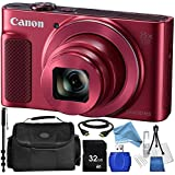 Canon PowerShot SX620 HS Digital Camera (Red) + 8PC Accessory Bundle – Includes 32GB SD Card + High Speed Card Reader + Carrying Case + DIGITALANDMORE