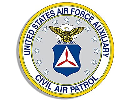 fd4c722e445 Image Unavailable. Image not available for. Color  American Vinyl Round Civil  Air Patrol Auxiliary ...