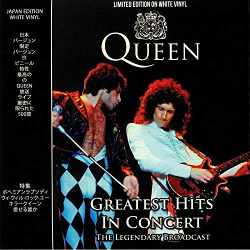 QUEEN - GREATEST HITS IN CONCERT: LIMITED EDITION ON WHITE -