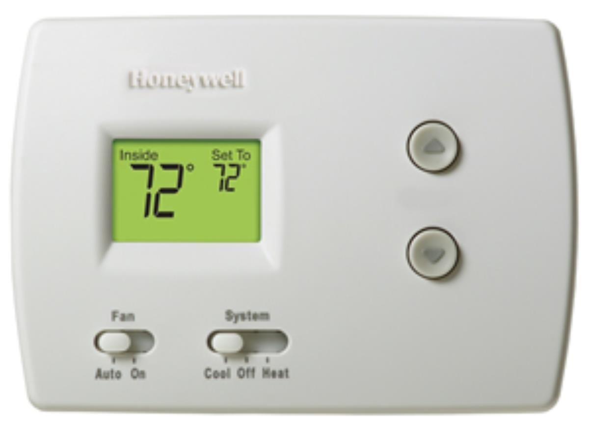 Honeywell Th3110d1008 Pro Non Programmable Digital Thermostat 1 Fan Control Wiring Diagram Pack White Household Thermostats