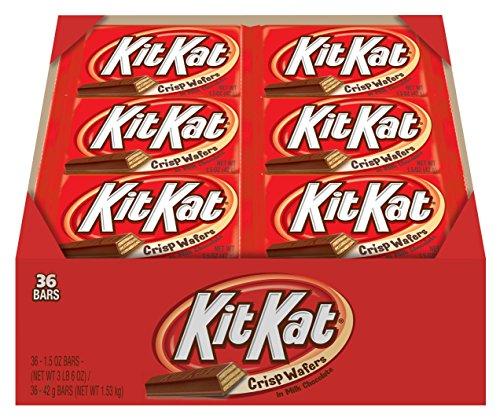 034000002467 - KIT KAT Candy Bar, Milk Chocolate Covered Crisp Wafers, 1.5 Ounce Bar (Pack of 36) carousel main 4