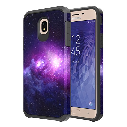 Samsung Galaxy J7 Refine Case, J7 V 2nd Gen Case, J7 Star Case, J7 Top Case Onyxii Hybrid Slim Graphic Armor Impact Resistant Protective Cover Case for Samsung Galaxy J7 (2018) (Galaxy Cloud)