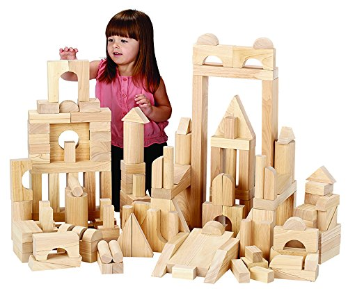Becker's School Supplies Unit Block Set, Blockbuster Set (174 Pieces, 15 Shapes)
