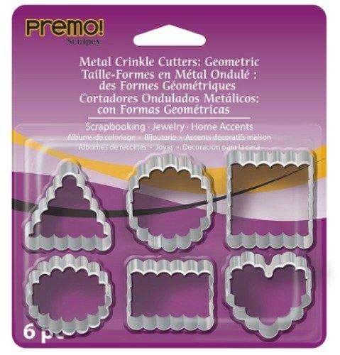 (Premo Metal Crinkle Cutters 6/Pkg- )