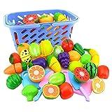 FairOnly 6 Unid/Set Plástico Cocina Alimentos Fruta Vegetal Juguetes de Corte Cocinar Cosplay Seguridad Educativa Niños Juguetes de Cocina para Niños P20 Random Color