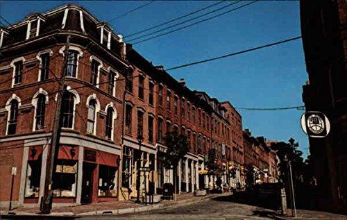Old Maine Portland Port - Old Port Exchange Portland, Maine Original Vintage Postcard
