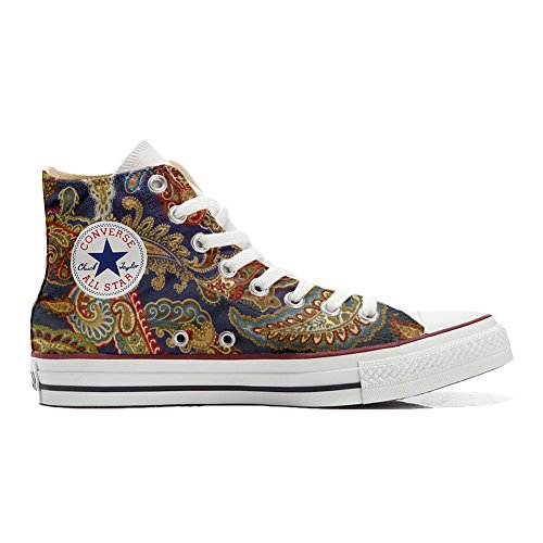 Handwerk Size EU mys Unisex 38 Schuhe Personalisierte Star Produkt Converse High Customized All 6xwqxv70B