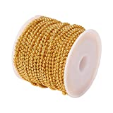 Airssory 32.8 Ft(10 Meters) Brass Ball Beads Chains