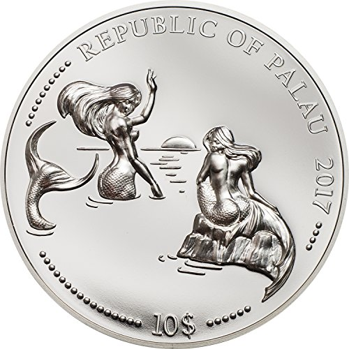 PW 2017 MARINE LIFE PROTECTION-DOLPHIN & SEA HORSE 2 x 2 oz silver coins set Perfect Uncirculated