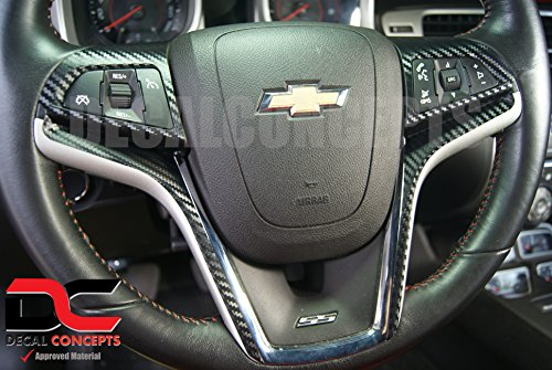 Camaro Carbon Fiber Full Steering Wheel Accent Decal kit cover (2012 Full Carbon)