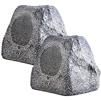 RX550 5.25-Inch 100W 2-Way Outdoor Weather-Resistant Rock Speaker - OSD Audio - (Pair, Granite White)