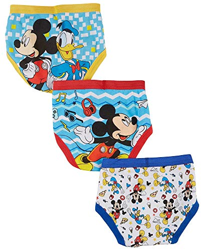 96f6b0984ff74 Disney Mickey Mouse Little Boys' Toddler Club Friends 3-Pack Briefs ...