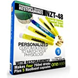 Limitless NZT-48 PLUS Restoramones - 4 Drinks+5 Capsules - Powerful, Customized and Personalized Brain-Boosting Nootropic Drink Mix, with Restoramone Prohormone Blend - and BONUS Booster Capsules.