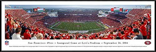 Inaugural Game Framed - San Francisco 49ers - Inaugural Game at Levi's Stadium - Blakeway Panoramas NFL Posters with Standard Frame