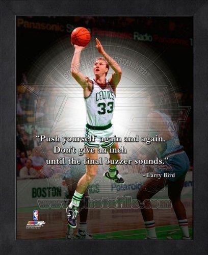 Larry Bird Framed Photo (Larry Bird Boston Celtics Pro Quotes Framed 8x10 Photo)