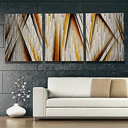 Large Metal Wall Art Modern Abstract Sculpture Contemporary Home Decor Silver Wall Art Vanishing Point Xl Amazon Co Uk Kitchen Home