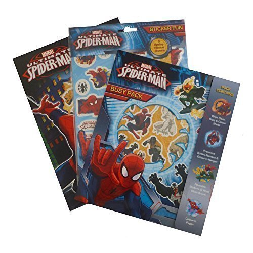 Spiderman Colouring Triple Set, Holiday Colouring Pack by Alligator