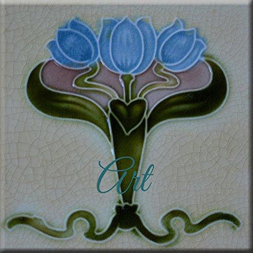 - Art Nouveau Ceramic Tile 6 Inches Reproducction #0000011