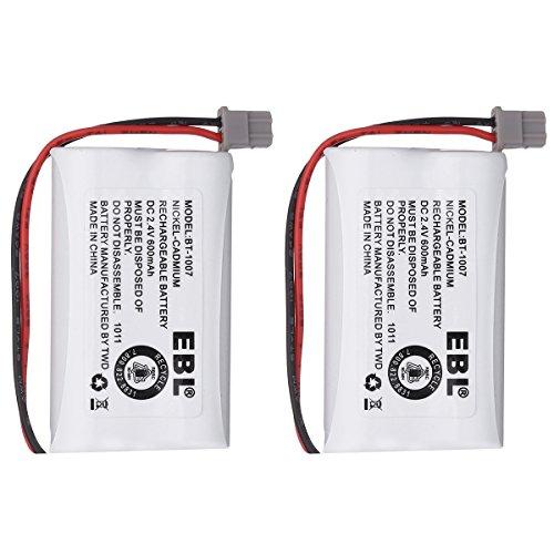 EBL BBTY0651101 Battery for Uniden BBTY0651101 Model BT1007 BT-1007 BT904 BT-904 BT1015 BT-1015 BBTY0460001 BBTY0510001 BBTY0624001 BBTY0700001 Panasonic HHR-P506, HHR-P506A Cordless Phone 2 Pack