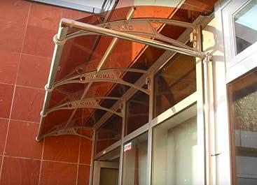 De pared en voladizo para toldo de policarbonato DIY 1000 x 4000 mm/delantera y trasera para ahumar refugio toldo de diseño de refugio para toldo: Amazon.es: Bricolaje y herramientas
