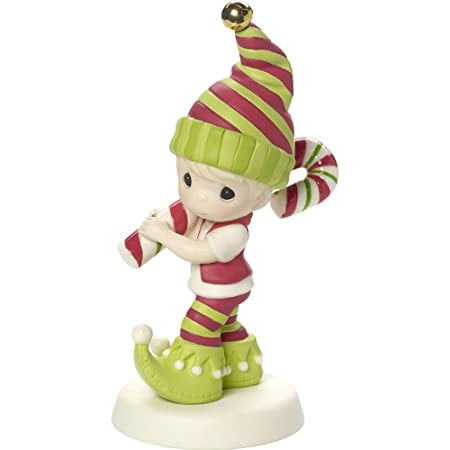 Precious Moments Wishing You The Sweetest Holiday Second in Annual Elf Series Bisque Porcelain Figurine 171013