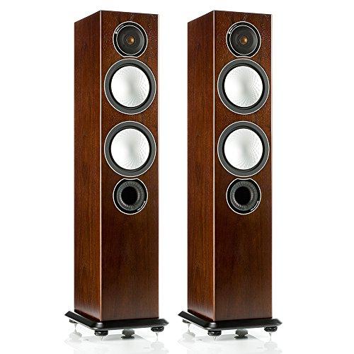 Monitor Audio Silver 6 - Par de caixas acústicas Torre 2,5-vias para Home Theater Walnut