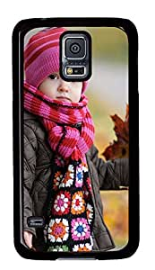Samsung Galaxy S5 Cases & Covers - Cute Baby And Maple Leaf PC Custom Soft Case Cover Protector for Samsung Galaxy S5 - Black