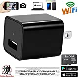 Hidden Camera - 1080p HD - WiFi Remote View - Motion Detection - -Alarm Message (Support 128G Micro SD Card) ,8GB Included , USB Spy Camera - Home Security ,Wireless  Nanny Cam