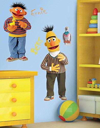 Sesame Street Burt & Ernie Peel & Stick Giant Wall Decal