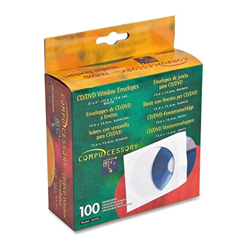 Compucessory 26500 CD/DVD Window Envelopes 5