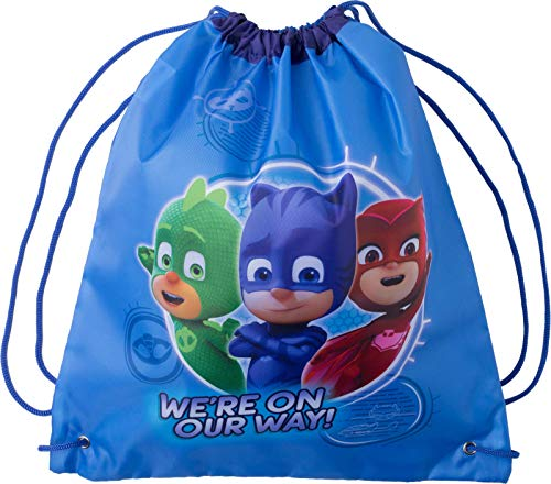 PJ Masks Drawstring Bag Travel Gym Drawstring Backpack Swim Cinch Sack For Storage Traveling PJ Mask Backpacks Bags ()