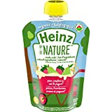 Heinz By Nature Organic Baby Food - Pear, Raspberry, Oat & Yogurt Purée - 128mL Pouch (Pack of 6)
