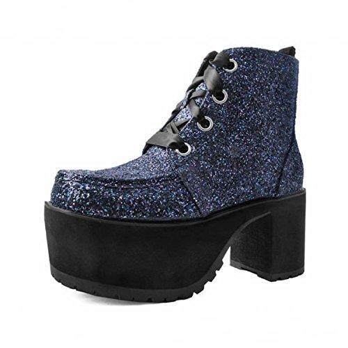 Shoes Schwarz U Funkeln K Nasenbluten Augen T Boot Juwelen 4 Frauen TfnFwAq