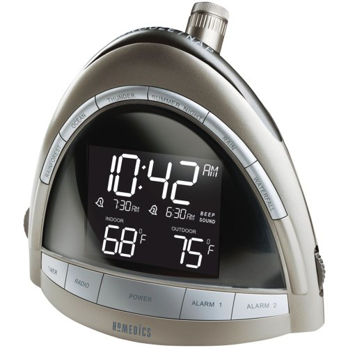 Homedics SS-5010 Soundspa Premier Am/Fm Clock - Radio Homedics Projection Clock