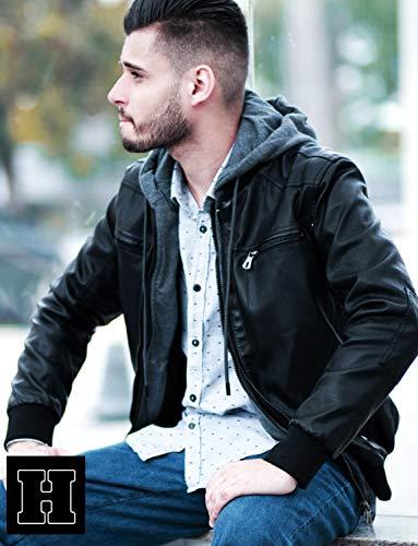 Amovible En Veste Modèle Avec Noir Store Classy Hommes Capuche Cuir Hoffen Pour Vegan AzUq5wB