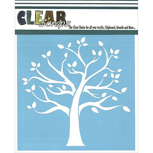 CLEARSNAP Clear Scraps CSSM6-FMTRE Family Tree Stencils, 6 by - A Painting Tree
