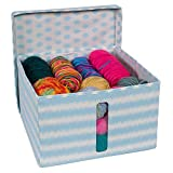Everything Mary Large Organizer Storage Box with Window | Collapsible Portable Yarn Knitting Crocheting and Sewing Storage Bin with Lid | Craft Organization Storage for Knitting Needles & Yarn