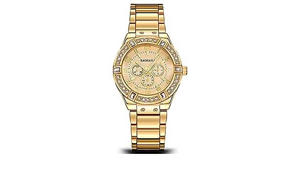 Amazon.com: Reloj De Mujer Moda Fashion Women Ultra Thin Relojes Dorados Quartz Regalos Para Mujer EB0035: Watches
