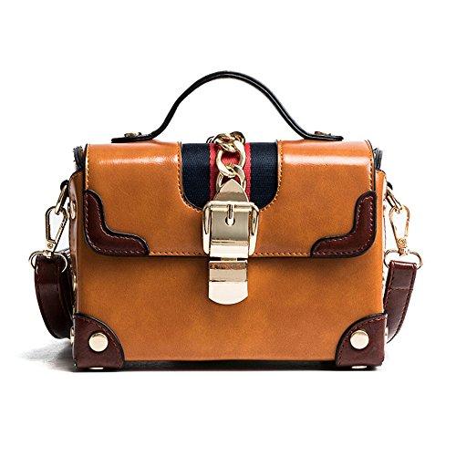 Sac Petit Sac Croix brown Main Sac Inclinée amp;QIUMEI Oblique À Femme Paquet Épaule OME Unique qHpn5EBW