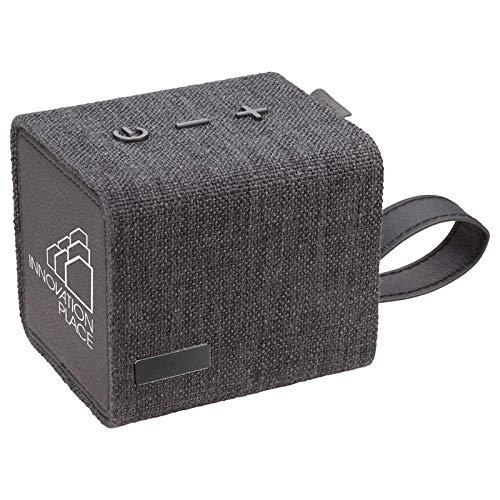 Custom Fortune Fabric Bluetooth Speaker- Speaker (Black) – 100 PCS – $34.78/EA – Promotional Product with Your Logo/Bulk…