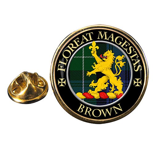 Brown Scottish Clan Crest Badge with Gift -