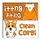 Funny Clean Dirty Dishwasher Magnet Sign Indicator - Corgi Butts Pet Gag Gift for Dog Owners