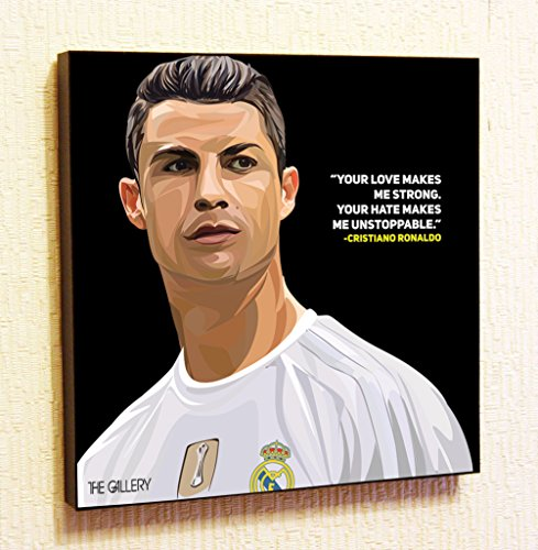 Cristiano Ronaldo #2 CR7 Real Madrid Football Holmes Framed Poster Pop Art for Decor with Motivational Quotes Printed (10x10