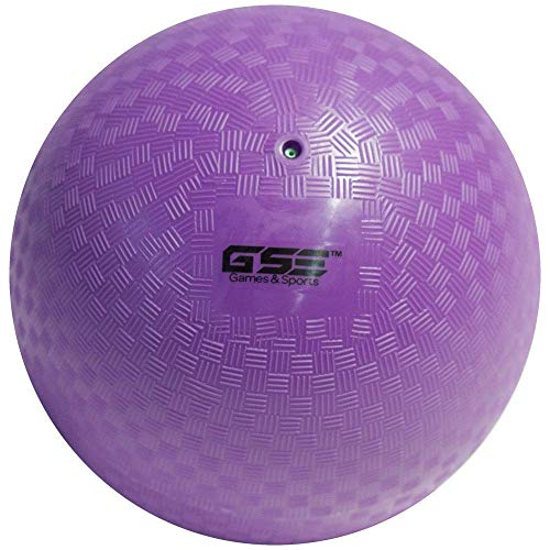 GSE Games & Sports Expert 10-inch Classic Inflatable Playground Balls (5 Colors Available) (Single - Purple) -