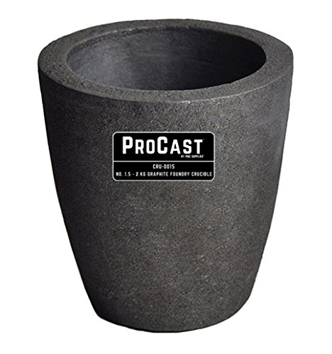 #1.5-2 Kg Foundry Clay Graphite Crucibles Cup Furnace Torch Melting Casting Refining Gold Silver Copper Brass Aluminum by PMC Supplies LLC