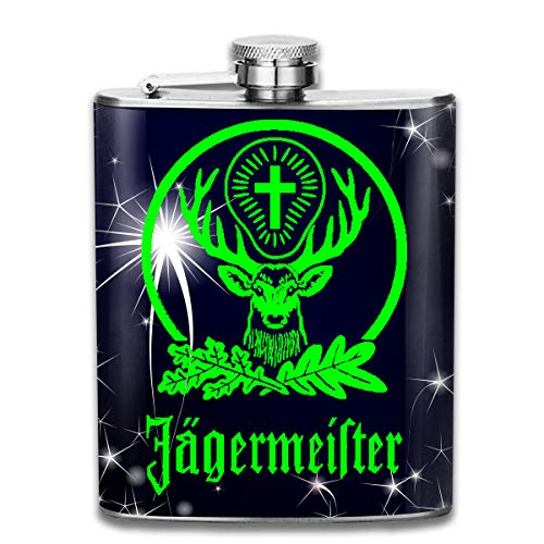 BeatriceBGault Jagermeister Leisure Gifts Stainless Steel 7 Oz Flask/Hip Flask
