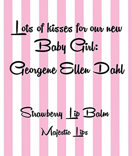 10 Personalized Lip BALMS Personalized Strawberry Flavored Lip Balms for Birthday, Bachelorette, Baby, Bridal Parties, Wedding, Spa Parties - Customizable by Majestic Lips (Image #3)