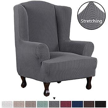 Amazon Com Tikami Wing Chair Slipcovers Stretch Wingback